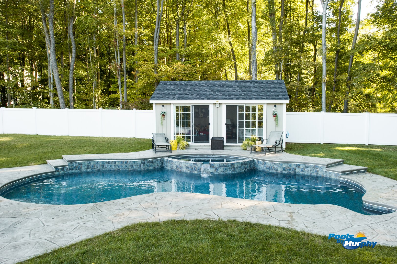 Custom residential pools for Pool house with bathroom cost